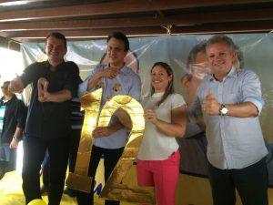 Governador Camilo Santana apoia o PDT em Guaramiranga (CE)