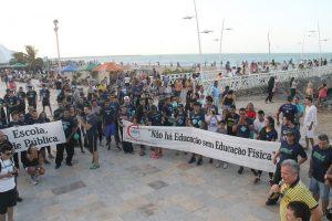 André Figueiredo defende Educação Física nas escolas durante a Marcha pela Educação