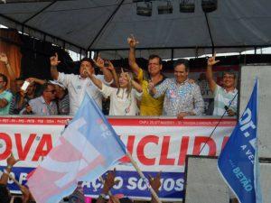 Félix Mendonça Júnior em comício de Dr. Luciano em Euclides da Cunha - Divulgação