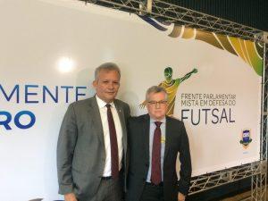 André Figueiredo destaca alcance social do futsal brasileiro