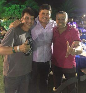 Luciano Pinheiro recebe o apoio dos prefeitos Adriano (Serrinha) e Joaquim (Alagoinhas) - Divulgação