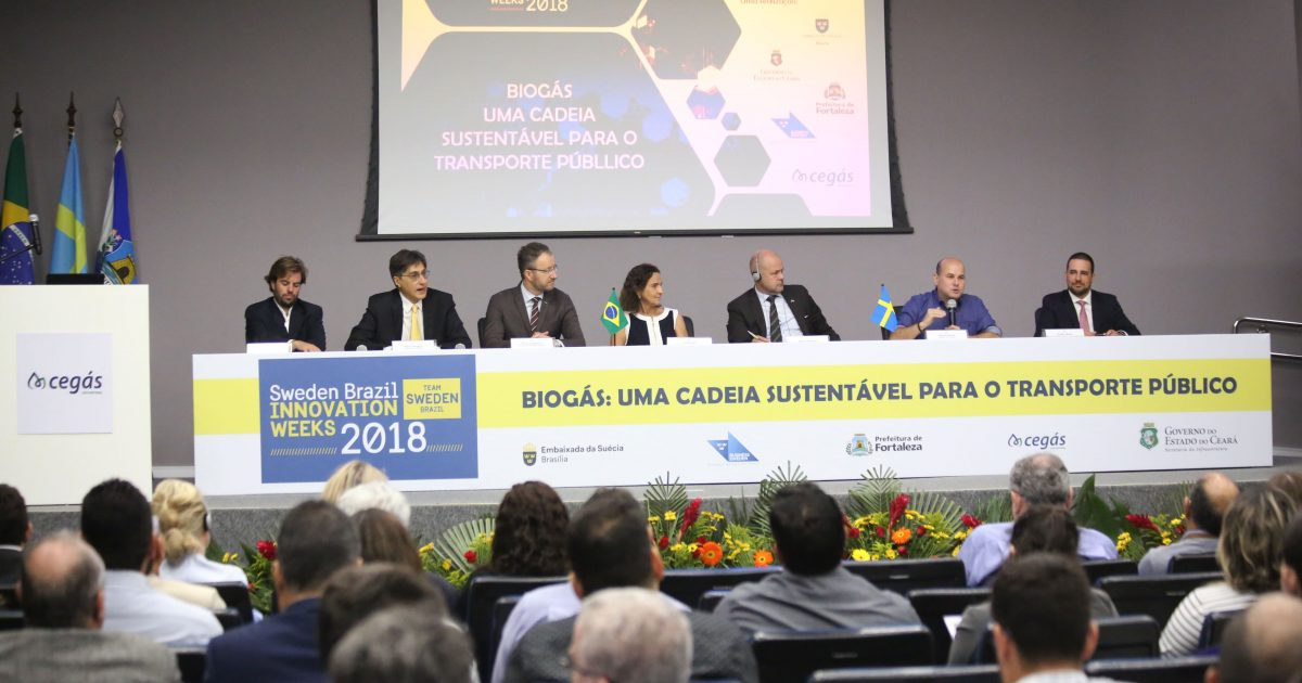 """Roberto Cláudio debate uso do biometano no evento """"Semanas da Inovação Suécia-Brasil"""""""